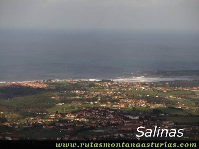 Vista de Salinas desde el Bufarán