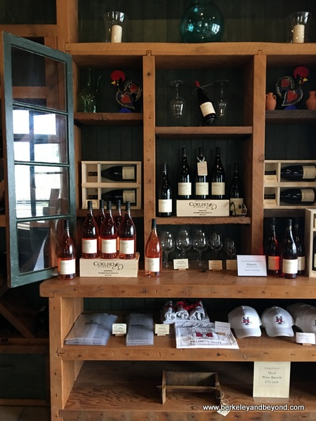 interior of Coelho Winery tasting room in Amity in Willamette Valley in Oregon