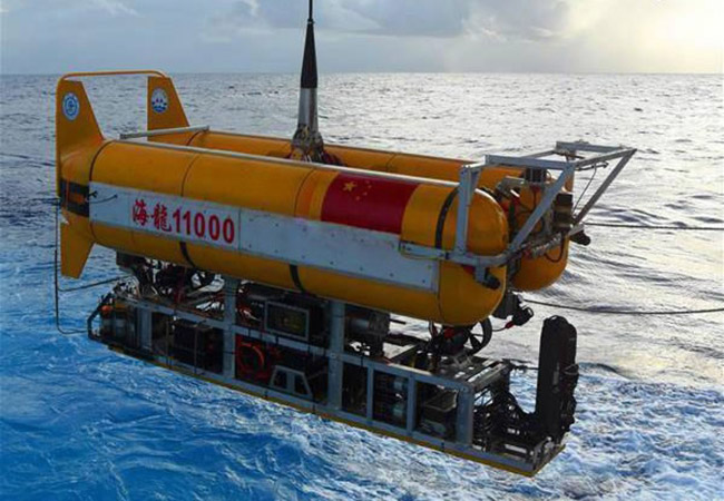 Penelitian China's Unmanned Submersible Hailong 11000 Dives to 5,630 Meters
