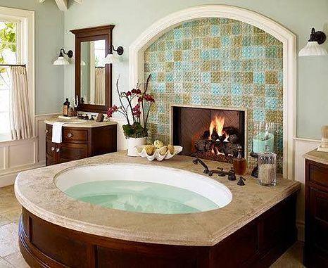 El Blog del Baño: Calor de chimenea en el cuarto de baño