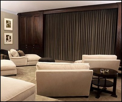 home theater curtains  Movie themed bedrooms - home theater design ideas - Hollywood style decor - movie decor -  Film decor - home cinema decor - movie theater decor - Home Theater Curtains - cabinet knobs movie theater - movie themed decorating ideas - movie props - designing a home theater room -  decorating home theater ideas -