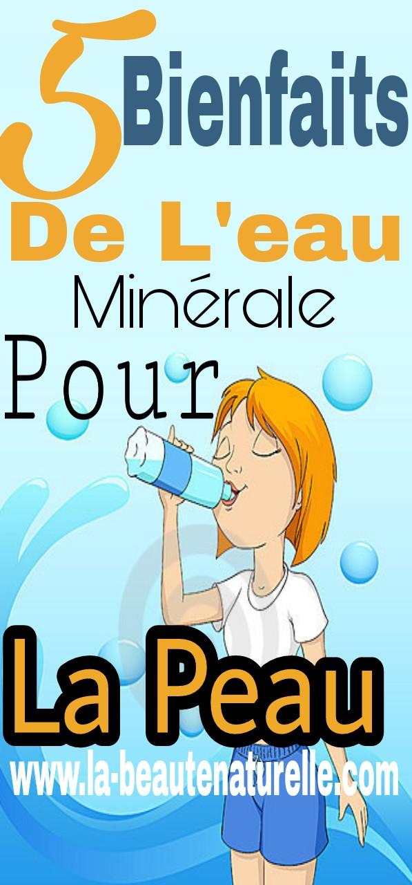 5 bienfaits de l'eau minérale pour la peau