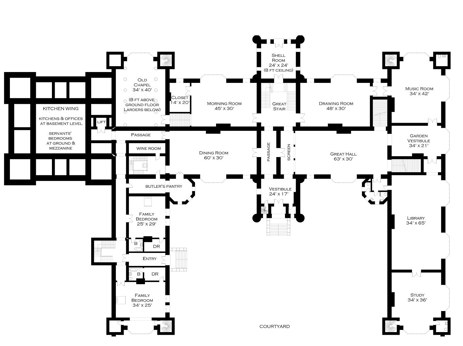 Old Manor House Floor Plans100 Manor House Plans The Manor – Knole House Floor Plan
