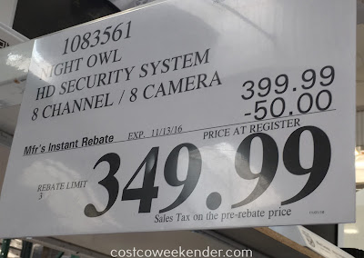 Deal for the Night Owl C-881-PIR1080 8 Camera HD Video Security System at Costco