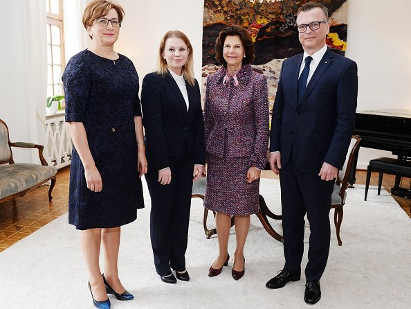 Queen Silvia delivered 'The Queen Silvia Nursing Award' with a ceremony held at the Swedish Embassy in Warsaw, Poland