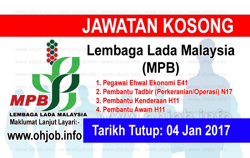 Jawatan Kerja Kosong Lembaga Lada Malaysia (MPB) logo www.ohjob.info januari 2017