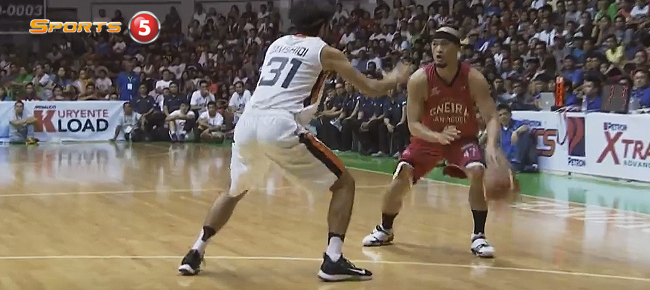 Mark Caguioa with a THROWBACK Move Against Mohammad Jamshidi (VIDEO)