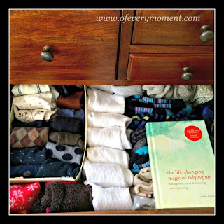 sock drawer, tidy, organizning