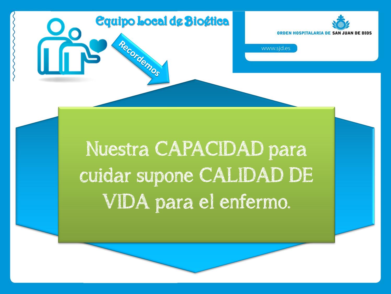 Pastoral de la salud, Bioética y Cuidados Paliativos (PASBIOPAL ...