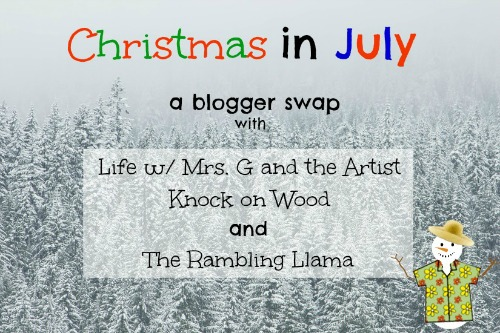 Christmas in July Blogger Swap