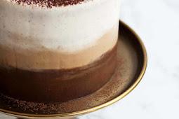 TIRAMISU LAYER CAKE WITH OMBRE MASCARPONE FROSTING