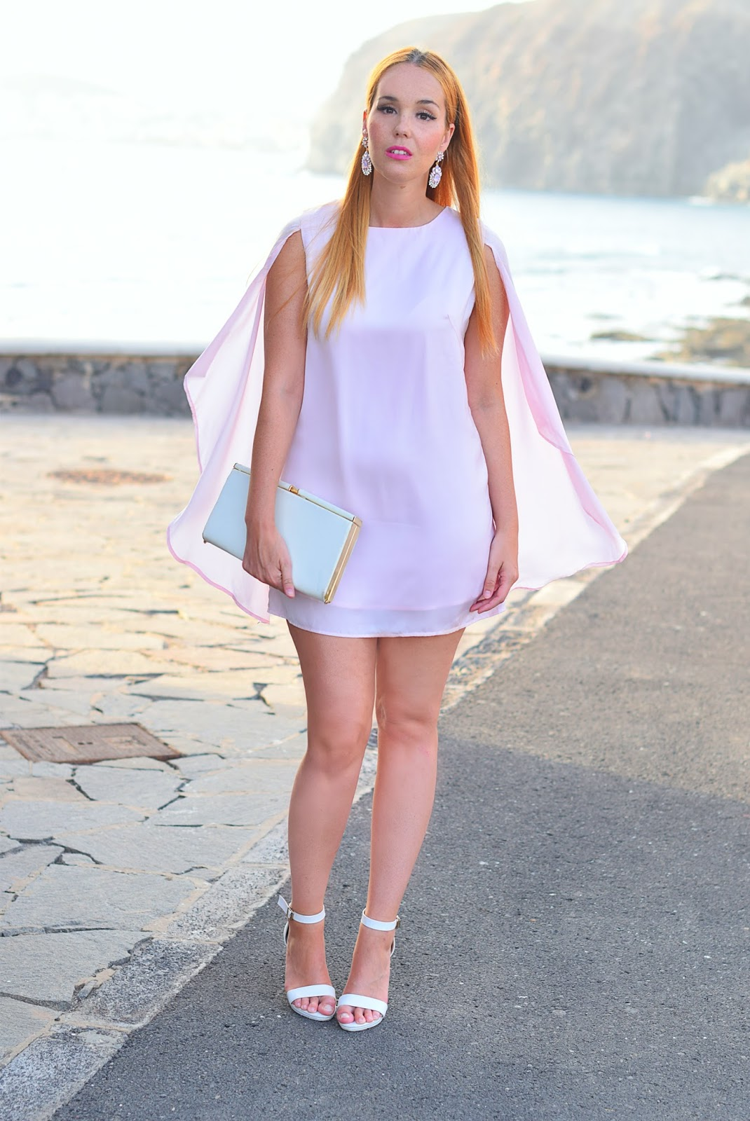 nery hdez, yrb fashion , dress, cape dress, carolee