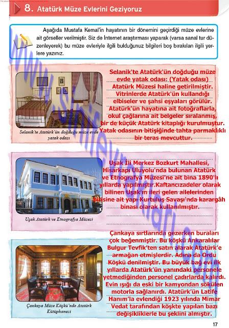 8. Sınıf İnkılap Tarihi Top Yayınları Çalışma Kitabı Cevapları Sayfa 17