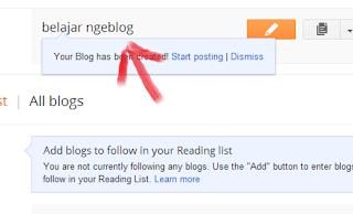 awal posting blogger