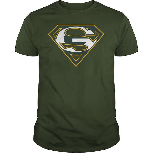 Green Bay Packers Superman Logo Shirt