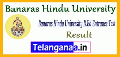 Banaras Hindu University B.Ed Entrance Result Counselling