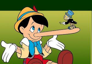 أنفه يطول عند الكذب