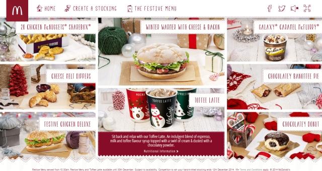 Mcdonald 39 s uk 39 s 2014 festive menu brand eating for Mcdonald s fish sandwich price