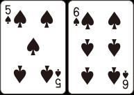 플레이어는 처음 받은 카드의 합과 상관없이 오직 한 장의 카드만 받는다는 조건으로 최초 베팅금액 한도 내에서 추가로 베팅할 수 있다.