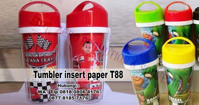 Jual tumbler insert paper plastik Harga dijamin paling murah