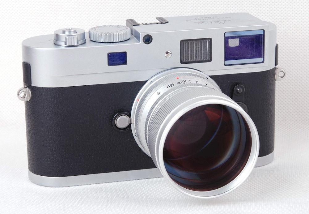 Объектив MS Optics Sonnetar 73mm f/1.5 F-MC с камерой Leica