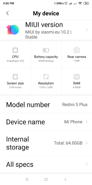Xiaomi Redmi 5 Plus Full Specifications, Review and Price