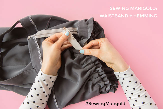 How to Sew the Elasticated Waistband on the Marigold Jumpsuit or Trousers - Tilly and the Buttons