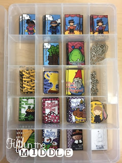 Bead organizers are perfect for storing brag tags and beads.