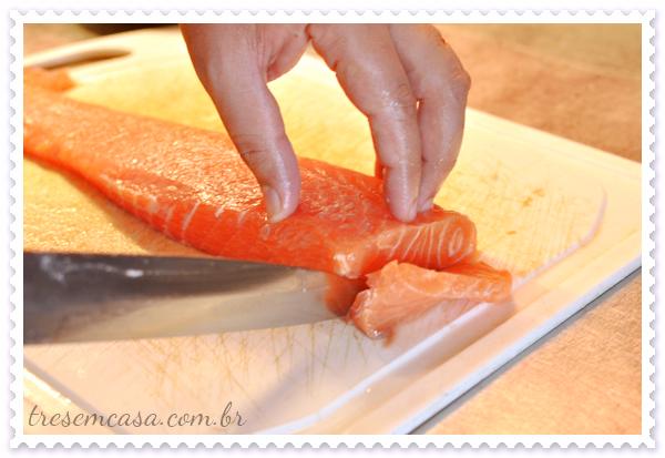 receita de sashimi de salmão