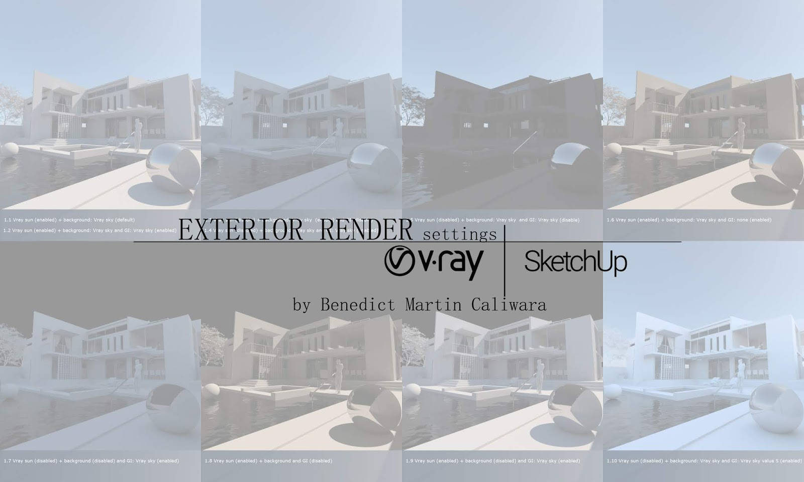 Exterior render settings vray 3 4 for sketchup - Vray realistic render settings exterior ...