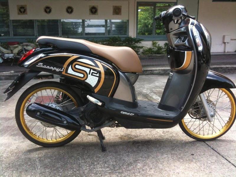 20 Modifikasi Motor Honda Scoopy Keren Terbaru
