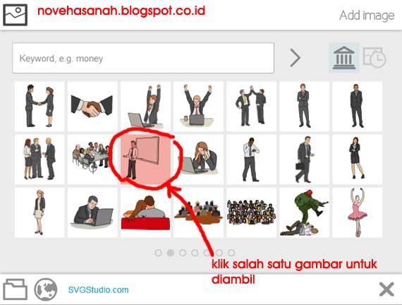 macam-macam gambar kategori orang atau people di base image library tutorial menggunakan fitur pada tombol menu add image (tambah gambar) sebagai elemen video animasi di VideoScribe