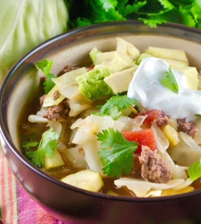 Mexian Beef Cabbage Soup
