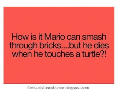How is it Mario can smash through bricks... but he dies when he touches a turtle?!