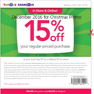 Babies R Us coupons for december 2016