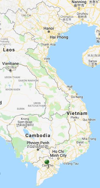 pin point map mekong delta vietnam