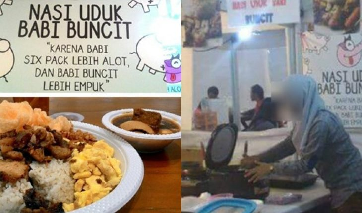 Parah!! Penampakan Perempuan Berhijab di Restoran Nasi Uduk Babi Buncit Ini Bikin Heboh Netizen