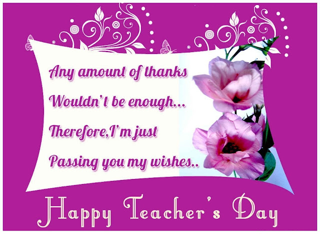Teacher Day Wishes Quotes cards