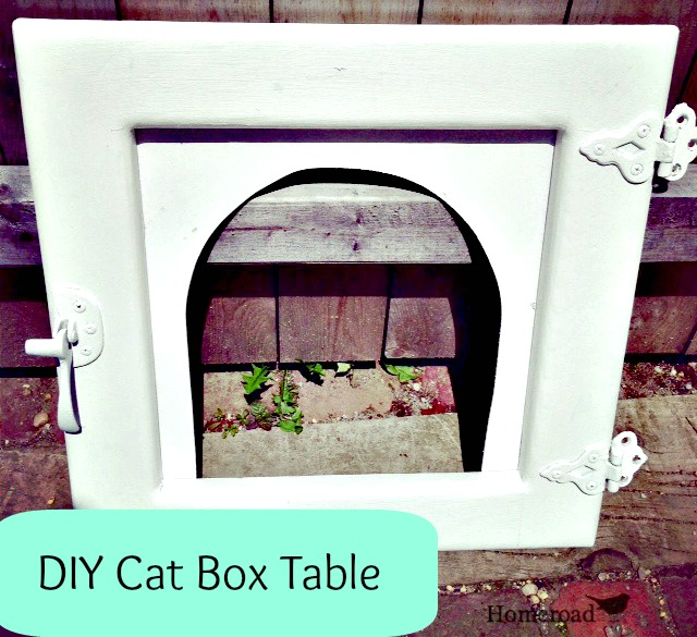 How to Make a Litter Box End Table