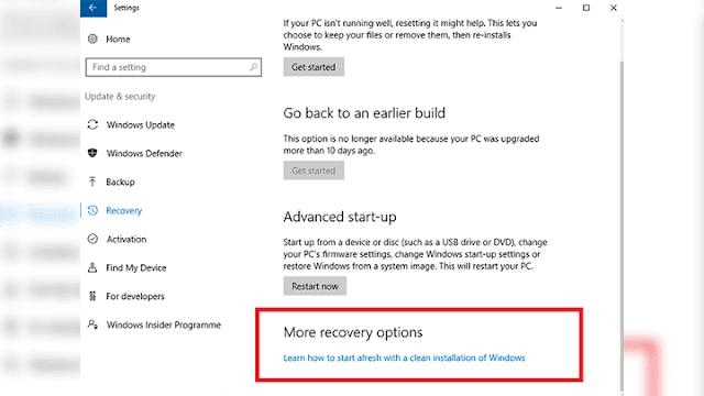 ازالة التطبيقات الغير لازمة من Windows 10 بإستخدام Windows Refresh Tool