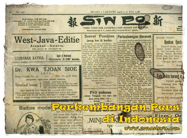 Perkembangan Pers di Indonesia | www.zonasiswa.com