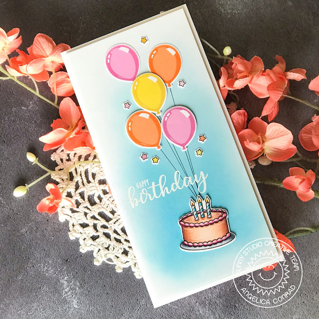 Sunny Studio Stamps: Make A Wish Birthday Balloon Birthday Card by Angelica Conrad