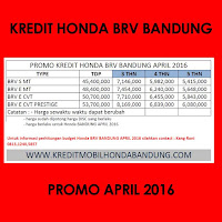 Paket Kredit Honda BRV April 2016, Harga Honda BRV April 2016