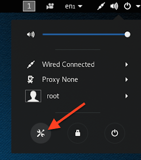 red arrow pointing to a tools icon