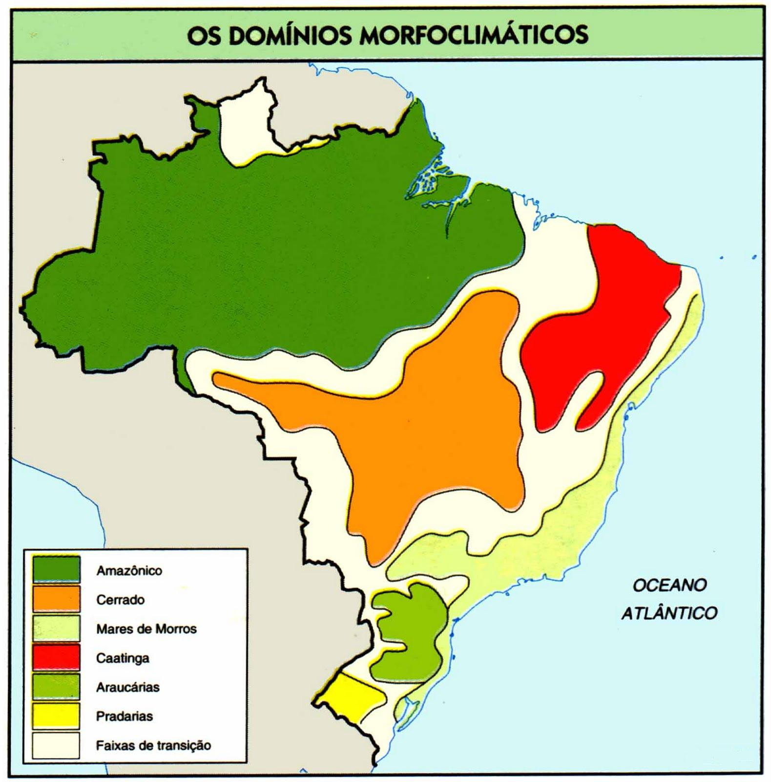 Os domínios morfoclimáticos brasileiros
