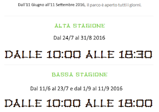 Calendario Acqua Village 2016