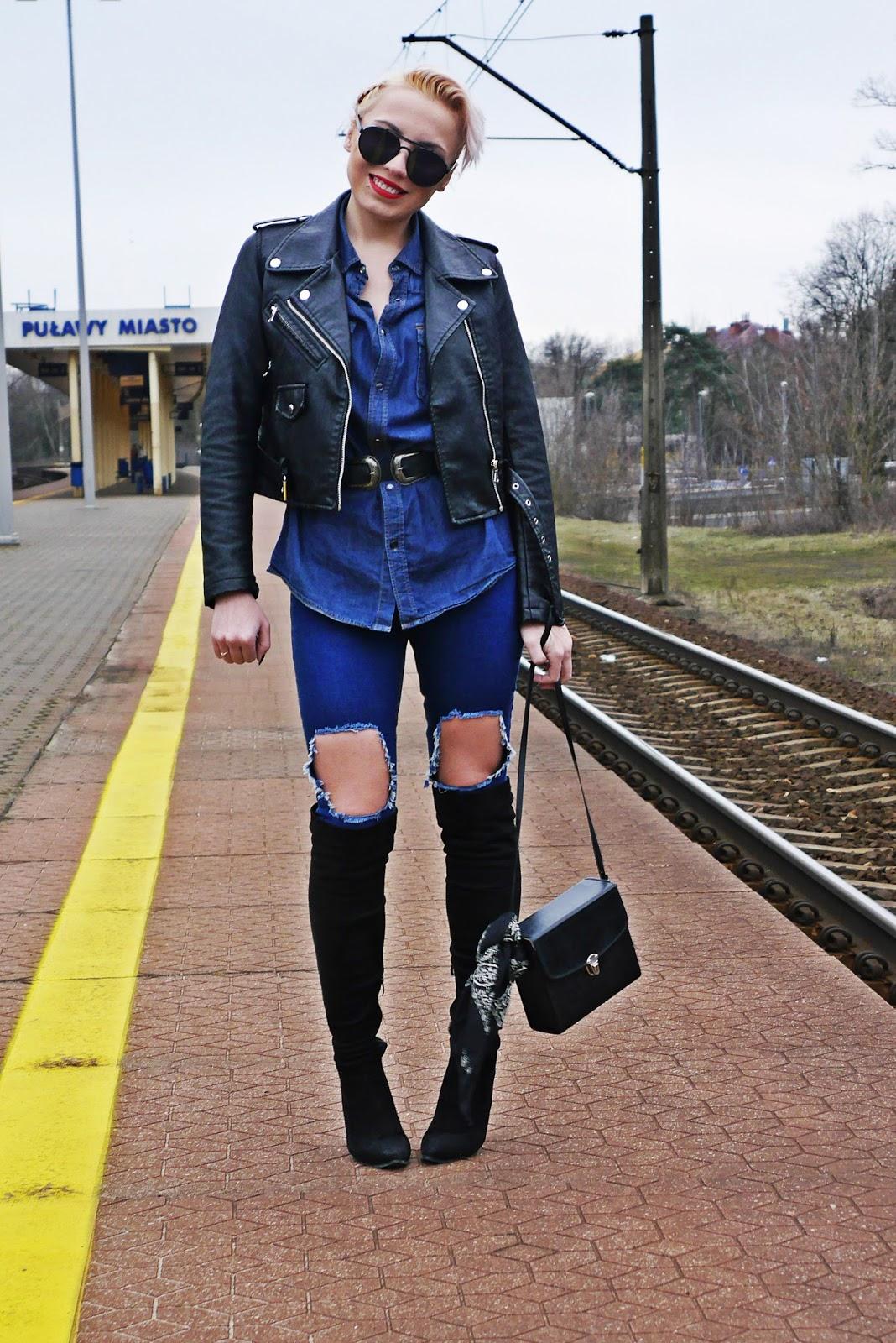 jeansowa_koszula_czarna_ramoneska_kozaki_z_kolano_karyn_look_230217c