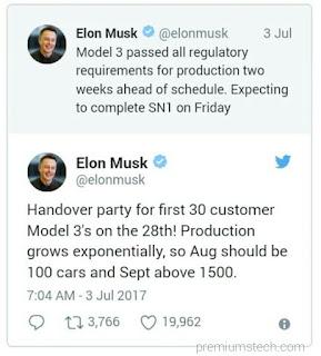 Tweet by Elon musk