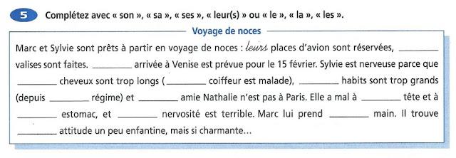 Zaimki przymiotne dzierżawcze - ćwiczenie 1 - Francuski przy kawie