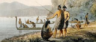 Canoas maoríes, dispuestas a asaltar el Boyd